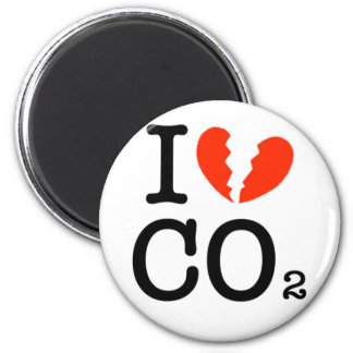 dont-love-CO2-2 2 Inch Round Magnet