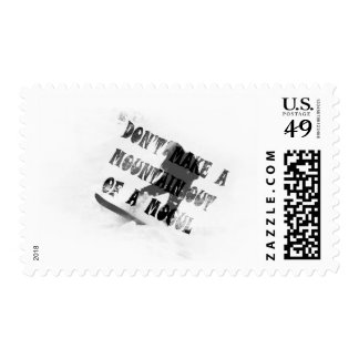 DON'T MAKE A MOUNTAIN OUT OF A MOGUL POSTAGE STAMPS