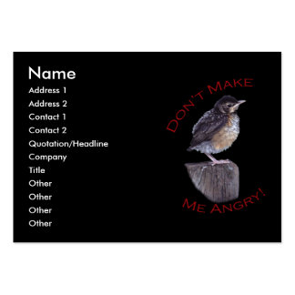 Don't Make Me Angry Large Business Cards (Pack Of 100)
