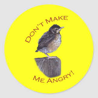 Don't Make Me Angry Classic Round Sticker