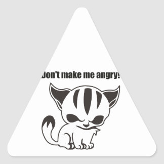 don't make ME angry! Kitty Sticker