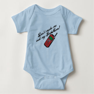 Don't Make Me Call GodMom! Baby Bodysuit