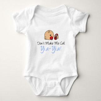 Don't Make Me Call Yia-Yia Baby Bodysuit