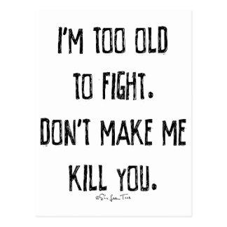 Don't Make Me Kill You Postcard