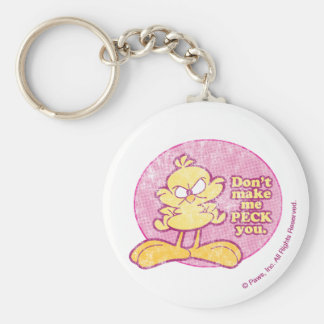 Don't Make Me Peck You Keychain