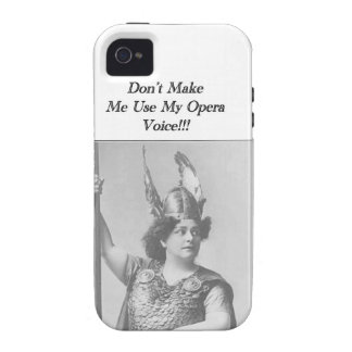 Don't Make me use my Opera voice iPhone 4 Cover