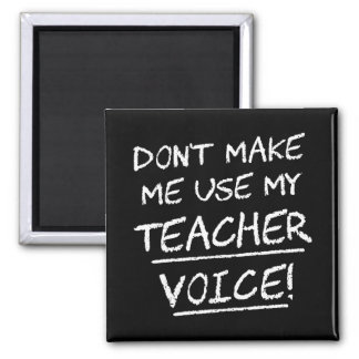 Don't Make Me Use My Teacher Voice Magnet