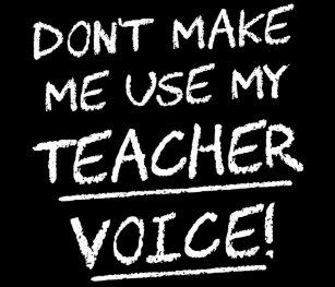 a994febd Don't Make Me Use My Teacher Voice Postcard