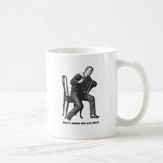 Don't make me use this! (Accordion) Coffee Mug
