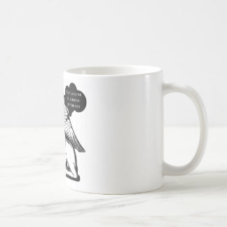 Don't Make me... WINGED LIONESS SITTING ON MAN Vin Coffee Mug
