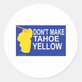 Don't make Tahoe yellow! Classic Round Sticker