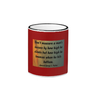 Don't measure a man'ssuccess by how ... ringer coffee mug