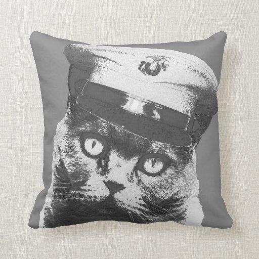 Don't Meow Throw Pillows