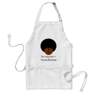 Don't Mess Around The Internet is Serious Business Adult Apron