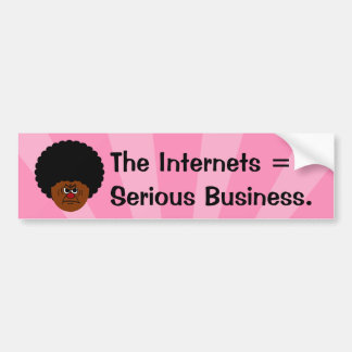 Don't Mess Around The Internet is Serious Business Car Bumper Sticker