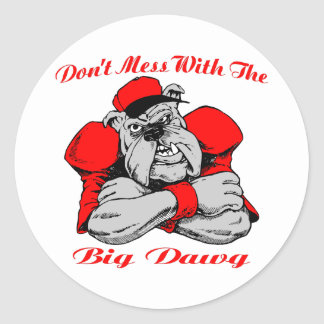 Dont Mess Big Dog Classic Round Sticker