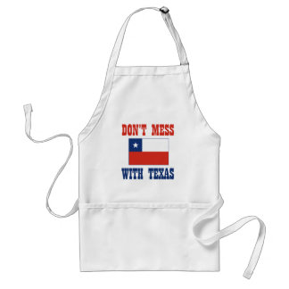 DON'T MESS TEXAS w/Chilean Flag Adult Apron