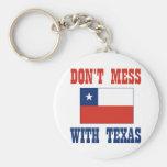 DON'T MESS TEXAS w/Chilean Flag Basic Round Button Keychain