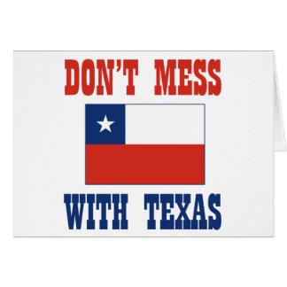 DON'T MESS TEXAS w/Chilean Flag Greeting Card