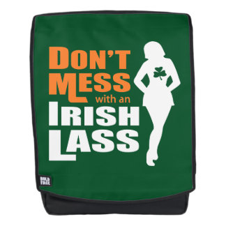 Don't Mess with an Irish Lass Funny Backpack