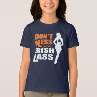 Don't Mess with an Irish Lass Funny Irish Girls T-Shirt