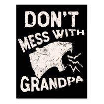 Don't Mess With Grandma Texas Lone Star Mothers Postcard