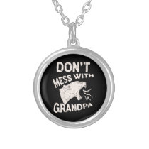 Don't Mess With Grandma Texas Lone Star Mothers Silver Plated Necklace