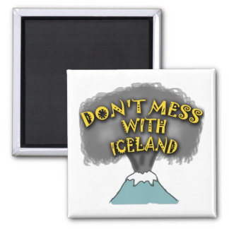 Don't Mess With Iceland T-shirts and Stuff 2 Inch Square Magnet