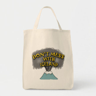 Don't Mess With Iceland T-shirts and Stuff Grocery Tote Bag