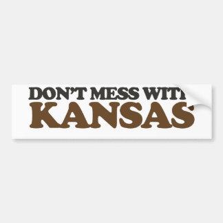Don't mess with Kansas Bumper Sticker