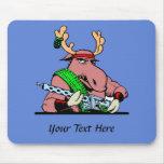 Don't Mess With Machine Gun Moose Mousepads