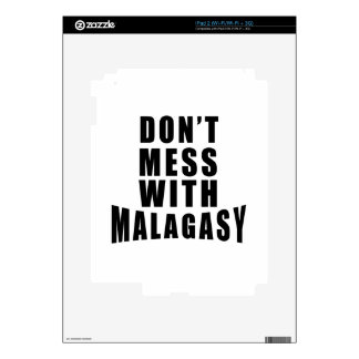 Don't Mess With MALAGASY iPad 2 Decals
