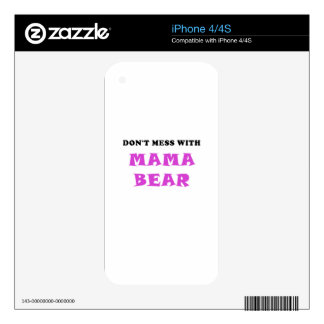 Dont Mess With Mama Bear Decals For iPhone 4