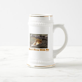 Don't Mess WIth Me Croc Stein 18 Oz Beer Stein