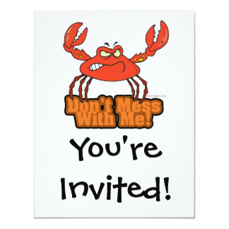 dont mess with me mean crab card