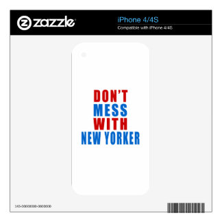 Don't Mess With NEW YORKER Skin For The iPhone 4