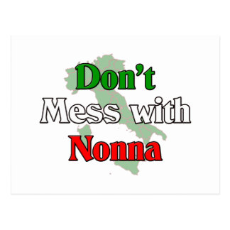 Don't Mess With Nonna Postcard