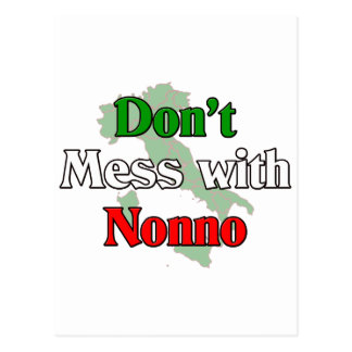 Don't Mess With Nonno (Italain Grandfather) Postcard