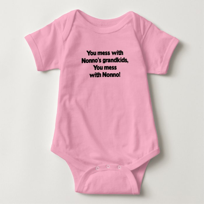 Don't Mess with Nonno's Grandkids Baby Bodysuit