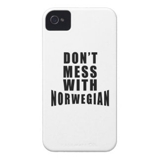 Don't Mess With NORWEGIAN iPhone 4 Case-Mate Case