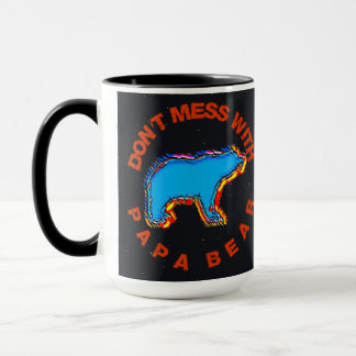 Don't Mess With Papa Bear Dad Grandpa Coffee Cup
