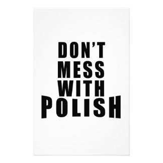 Don't Mess With POLISH Stationery