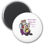 dont mess with queen bee 2 inch round magnet