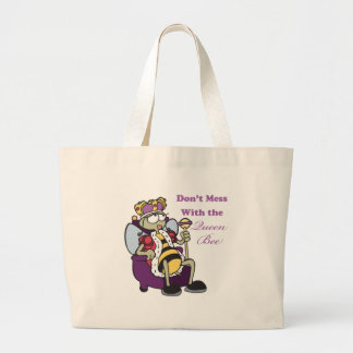 dont mess with queen bee tote bag
