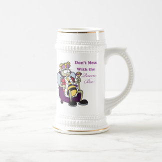 dont mess with queen bee beer stein