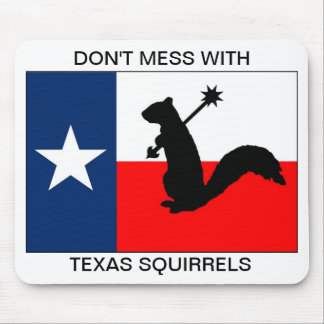 Don't mess with Texas squirrels Mouse Pad