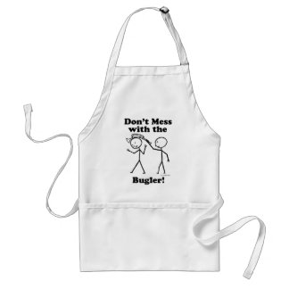 Don't Mess With The Bugler Adult Apron