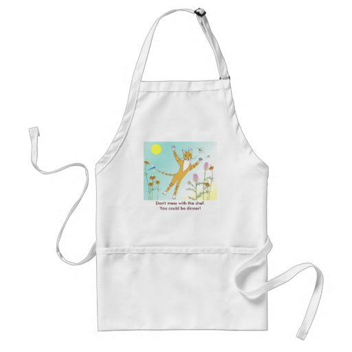 'Don't mess with the chef' kitty apron