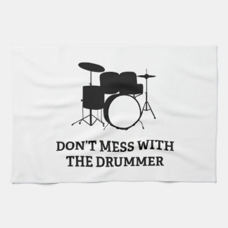 Don't Mess With The Drummer Towel