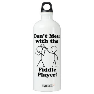 Don't Mess With The Fiddle Player Aluminum Water Bottle